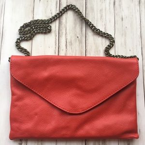 J. Crew Leather Envelope Clutch/Purse